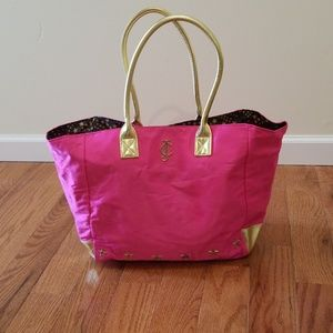 Juicy Couture Hot Pink Satin Tote